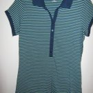 Womans ana short sleeved blue and green striped Shirt (M/M)