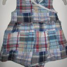 Girls Faded Glory plaid romper dress w/ attatched bottoms (newborn)