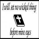 "Laptop Cover Decal - ""I will set. no wicked thing...."""