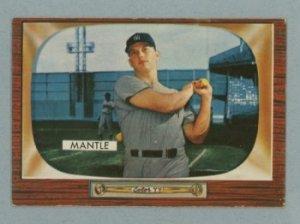 1955 Bowman # 202 Mickey Mantle Yankees HOF EX