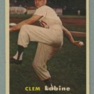 1957 Topps # 53 CLEM LABINE Brooklyn Dodgers VG - EX