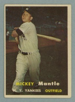 1957 Topps # 95 Mickey Mantle Yankees HOF VG
