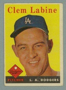 1958 Topps # 305 CLEM LABINE Dodgers VG