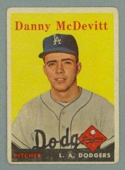 1958 Topps # 357 DANNY McDEVITT Dodgers VG