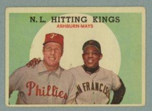 1959 Topps NL Hitting Kings # 317 ASHBURN -- MAYS HOF