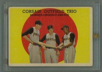 1959 Topps Corsair Outfield Trio # 543 CLEMENTE HOF EX