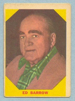 1960 Fleer # 23 Ed Barrow HOF Yankees