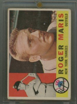 1960 Topps # 377 Roger Maris Yankees