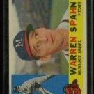 Vintage 1960 Topps # 445 Warren Spahn Braves HOF
