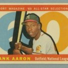 1960 Topps AS # 566 Hank Aaron Braves Brewers HOF VG+