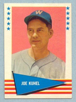 1961 Fleer # 119 Joe Kuhel Senators White Sox