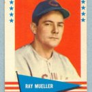 1961 Fleer # 128 Ray Mueller Braves Reds
