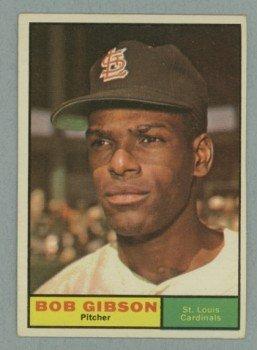Vintage 1961 Topps # 211 Bob Gibson Cardinals HOF
