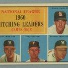 1961 Topps NL Pitching Leaders # 47 BROGLIO -- SPAHN HOF