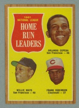 1962 Topps NL HR Leaders # 54 CEPEDA - MAYS - ROBINSON HOF