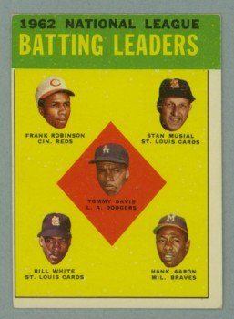 1963 Topps NL Batting Leaders # 1 ROBINSON - MUSIAL - AARON