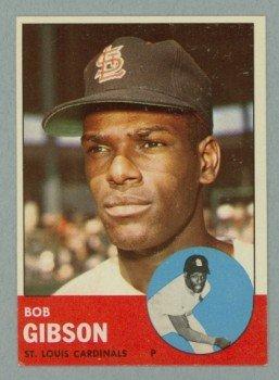 Vintage 1963 Topps # 415 Bob Gibson Cardinals HOF