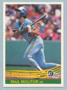1984 Donruss # 107 Paul Molitor HOF Brewers