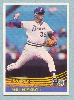 1984 Donruss # 188 Phil Niekro HOF Braves