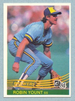 1984 Donruss # 48 Robin Yount HOF Brewers