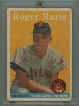 1958 Topps # 47 Roger Maris RC Yankees Rookie