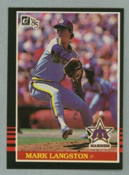 1985 Donruss # 557 Mark Langston RC Mariners Rookie