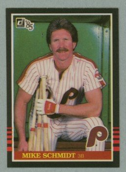 1985 Donruss # 61 Mike Schmidt HOF Phillies