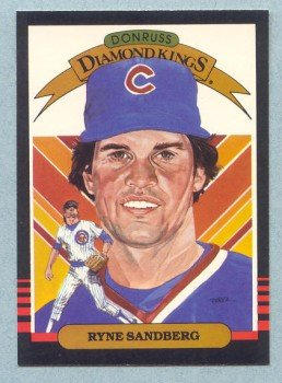 1985 Donruss Diamond Kings # 1 Ryne Sandberg HOF Cubs
