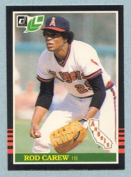 1985 Leaf # 132 Rod Carew HOF Angels