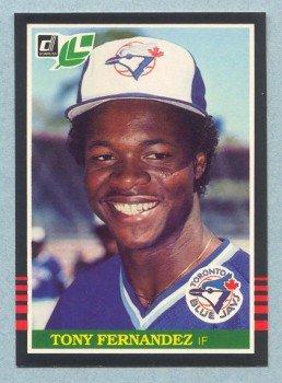 1985 Leaf # 91 Tony Fernandez Blue Jays