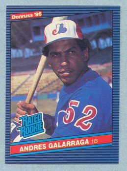 1986 Donruss # 33 Andres Galarraga RC Expos Rookie