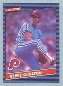 1986 Leaf # 117 Steve Carlton HOF Phillies