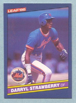 1986 Leaf # 131 Darryl Strawberry Mets