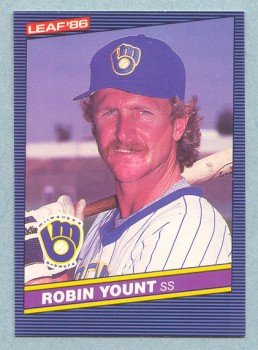1986 Leaf # 31 Robin Yount HOF Brewers
