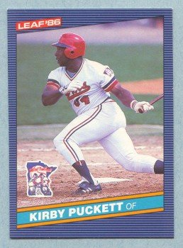 1986 Leaf # 69 Kirby Puckett HOF Twins