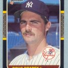 1987 Donruss # 251 Doug Drabek RC Yankees Rookie
