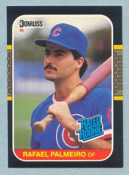 1987 Donruss # 43 Rafael Palmeiro RC Cubs Rookie