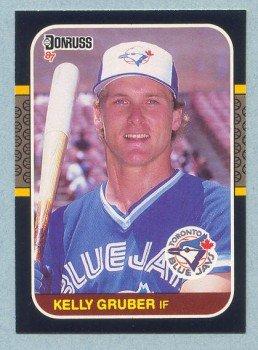 1987 Donruss # 444 Kelly Gruber Blue Jays