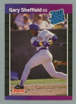 1989 Donruss # 31 Rated Rookie Gary Sheffield RC Yankees Rookie