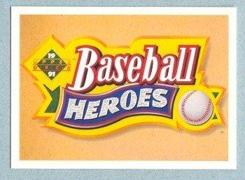 1991 UD Baseball Heroes Nolan Ryan Header SP HOF
