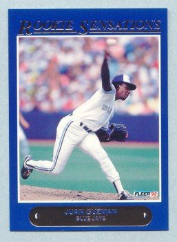 1992 Fleer Rookie Sensations # 13 Juan Guzman Blue Jays