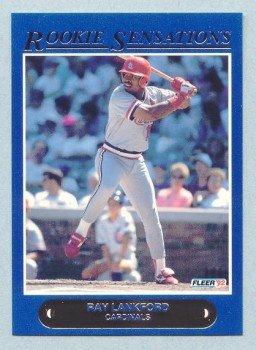 1992 Fleer Rookie Sensations # 17 Ray Lankford Cardinals