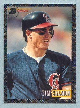 1993 Bowman # 341 Tim Salmon Foil Angels