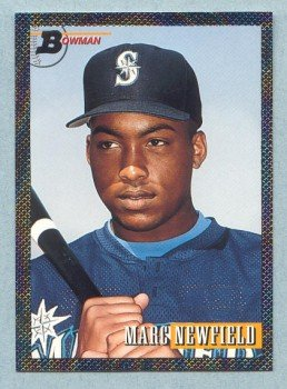 1993 Bowman # 372 Marc Newfield Foil Mariners