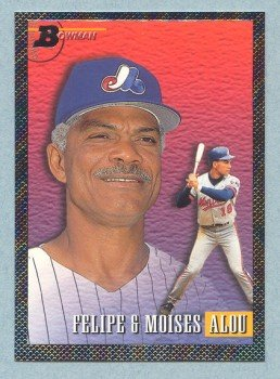 1993 Bowman Father - Son # 701 Felipe and Moises Alou Foil