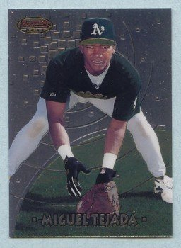 1997 Bowman's Best Preview # BBP 18 MIGUEL TEJADA RC Orioles Rookie