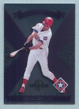 1997 Donruss Ltd Double Team # 194 Will Clark -- Dean Palmer Rangers