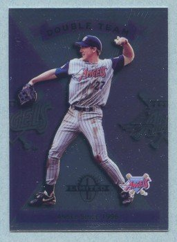 1997 Donruss Ltd Double Team # 198 Darin Erstad -- Jason Dickson Angels