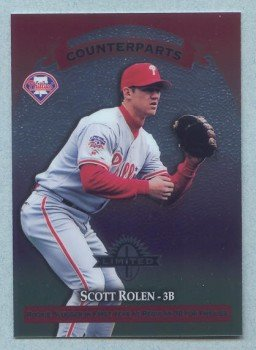 1997 Donruss Ltd Counterparts # 72 Scott Rolen -- Edgardo Alfonzo Phillies Mets