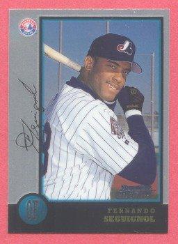 1998 Bowman Chrome # 394 Fernando Seguignol RC Expos Rookie